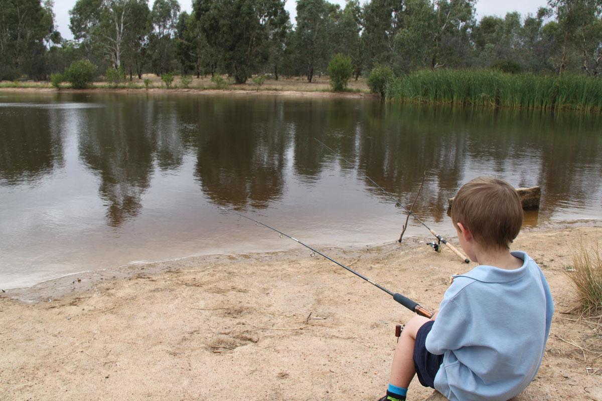 fishing at the arboretum lake